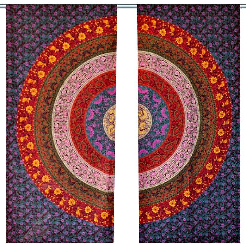 Indian Mandala Print Kitchen Window Curtains Curtain U0026 Valance Set Dorm  Tapestry PRINT Kitchen Window Curtains Curtain ...