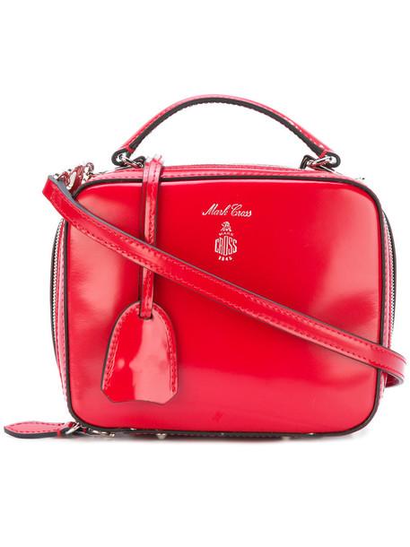 Mark Cross satchel women baby leather red bag