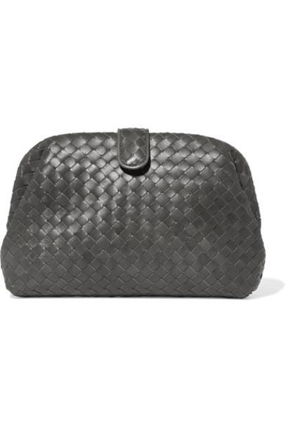 Bottega Veneta leather clutch metallic clutch leather bag