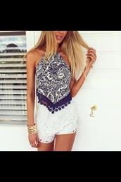 top,blouse,belt,blue,white,shirt,tank top,want need love