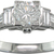 Unique Diamond Platinum Ring with Baguette Diamond Shoulders-Ready to Wear UK
