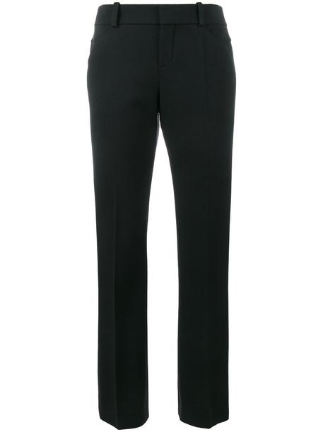 Chloé Chloé - cropped straight leg trousers - women - Spandex/Elastane/Virgin Wool - 38, Black, Spandex/Elastane/Virgin Wool