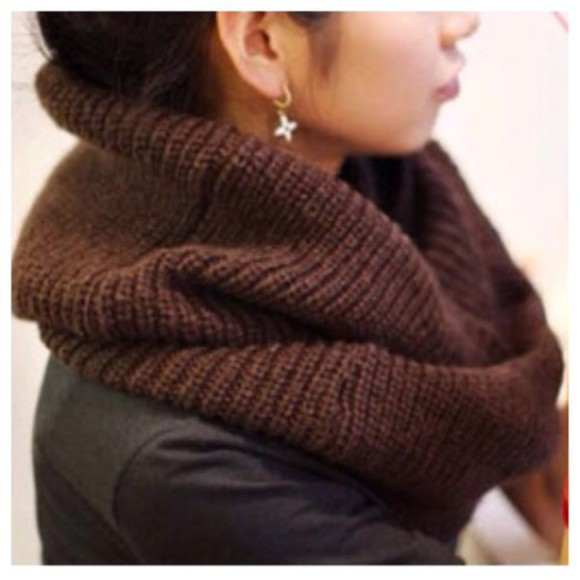scarf knitwear cute knitted scarf infinity scarf fashion kawaii girly clothes fall outfits
