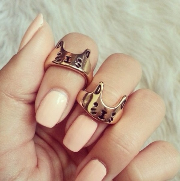 jewels jewelry ring cats cats nail polish fashion love mouse ring cheap jewelry gold ring nails art