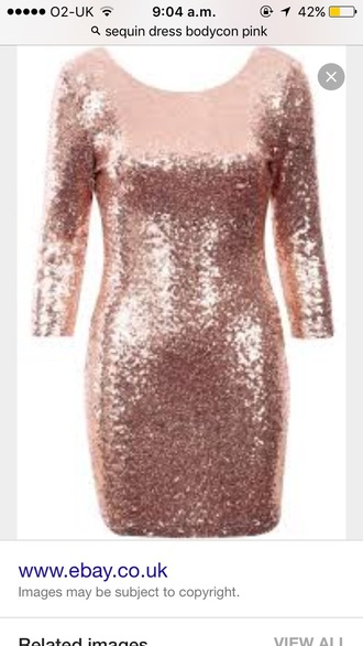 dress pink sequin pastel prom dress sexy y