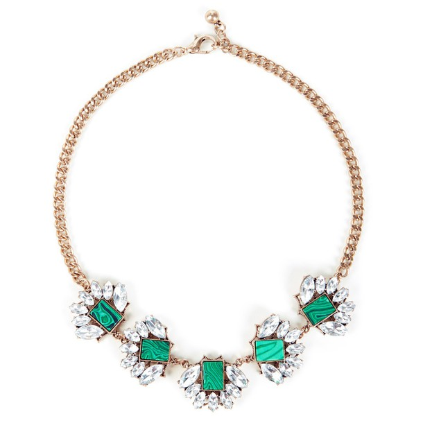 Sole Society Natural Stone Statement Necklace  - Multi-One Size