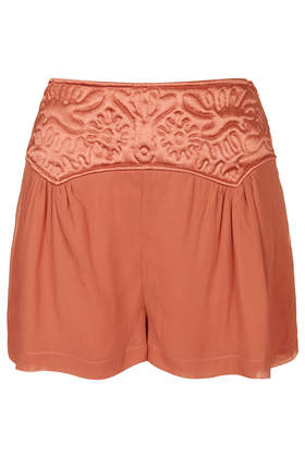 Embossed Panel Shorts - Shorts - Clothing - Topshop Europe
