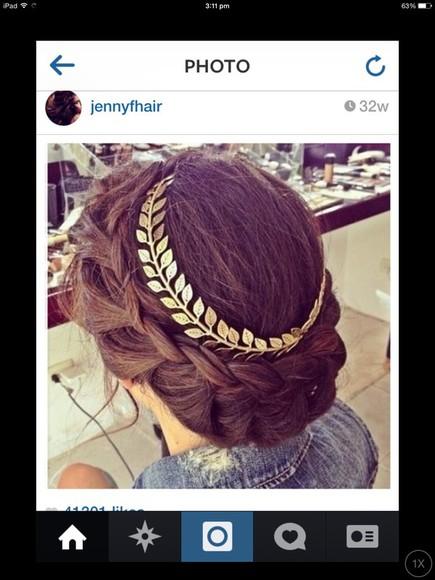 leaf jewels hair accessories