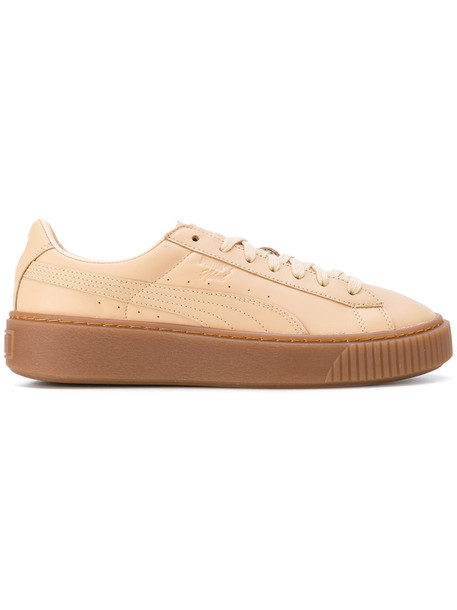 puma women sneakers platform sneakers leather nude shoes