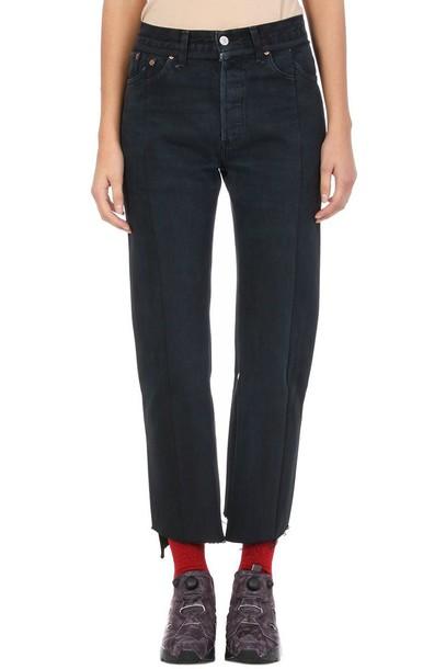 Vetements jeans black jeans black