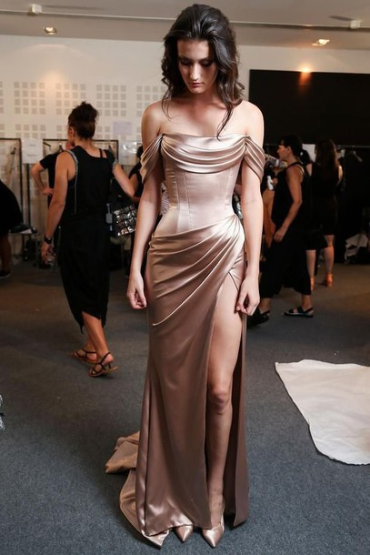 dress gold dress prom dress prom formal dress homecoming dress homecoming