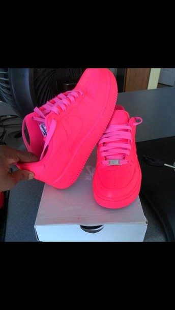 sports shoes ed58c 57eb4 shoes airforce 1 pink sneakers shorts nike nike air force 1 hot pink