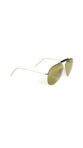 sunglasses,gold,black