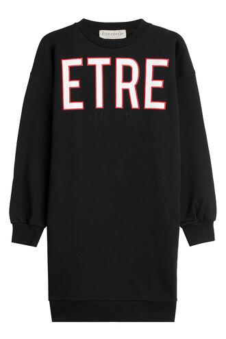 dress sweatshirt dress cotton black