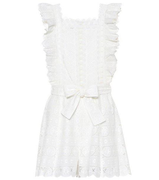 Zimmermann daisy cotton white romper