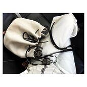 bag,tumblr,white bag,bucket bag,pants,white pants,earphones