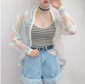 jacket,laser jacket,hologram jacket,aesthetic,girly,tumblr girl,tumblr outfit,short,oversized jacket