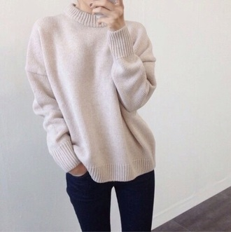 sweater pink nude beige winter