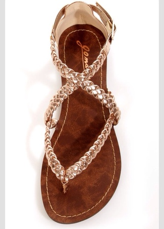 shoes braided sandles