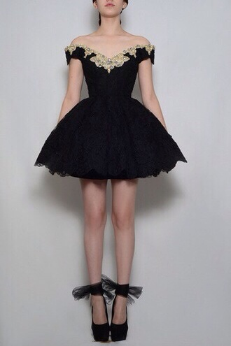 dress black dress lace dress flowers vintage dress homecoming dress jewels puffy cupcake dress corset dress