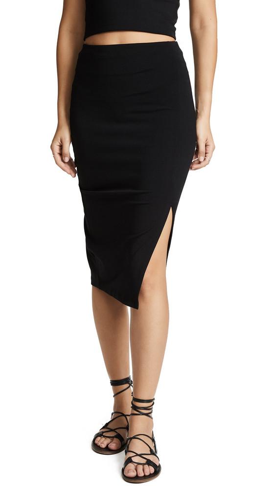 Susana Monaco High Waist Slit Skirt in black