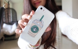 phone cover tumblr hipster coat starbucks coffee iphone 5 case