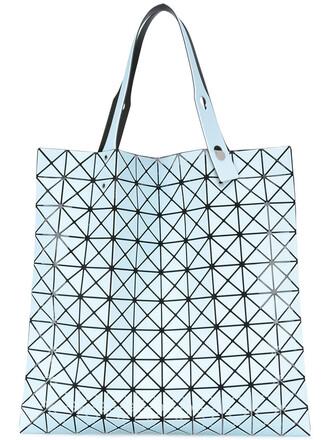 women plastic blue bag