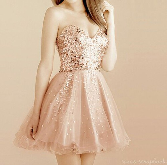rose gold dress gold coral glitter sparkle rose rose gold rings