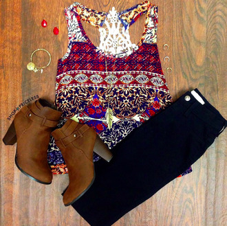 bright colorful tank top pattern patterened tank