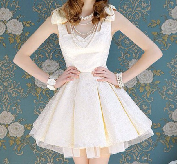 cute, vintage, bows, dress, cute dress, fashion, kawaii, prom dress ...