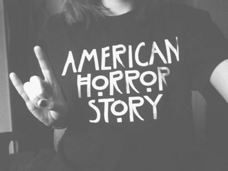 t-shirt american horror story horror american story black and white short