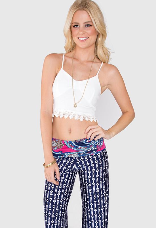 Ana Crochet Top - White