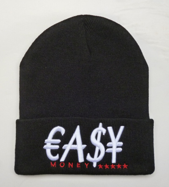 hat easy money dope wishlist dope beanie printed beanies black and red unisex swag