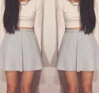 skater skirt grey skirt