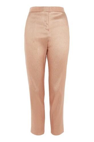 glitter peach pants
