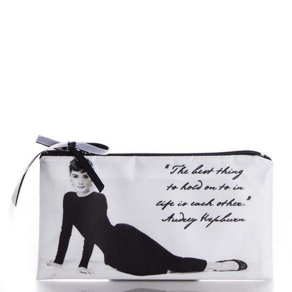 bag vintage ziziztime audrey hepburn black n white cosmetic bag cosmetic case