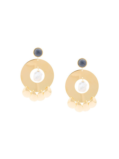 LIZZIE FORTUNATO JEWELS women earrings gold yellow orange jewels