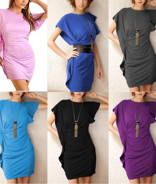 6 Colors Freeshipping 2013 New Fashion Women Sexy Batwing Sleeve Casual Dress Lady Nighty Chemise Clubwear Dress 2201 | Amazing Shoes UK