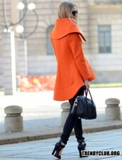 coat,orange,style,fall outfits