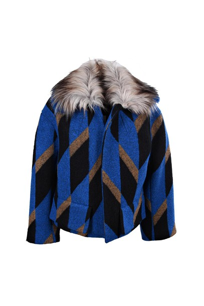 dries van noten coat blue