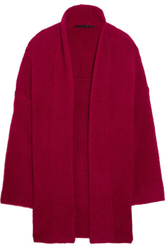 cardigan oversized mohair sweater