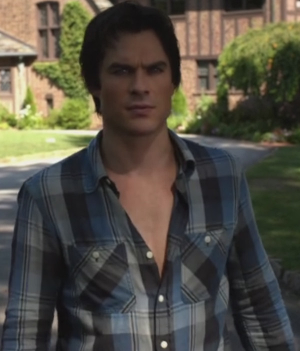 the vampire diaries ian somerhalder plaid flannel shirt the vampire diaries damon salvatore