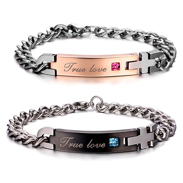 Engravable Matching Couples Friendship Bracelets Valentines Gift Personalized Couples Gifts | His Her Necklaces and Bracelets | Engraved Wedding Rings | Couples Clothing