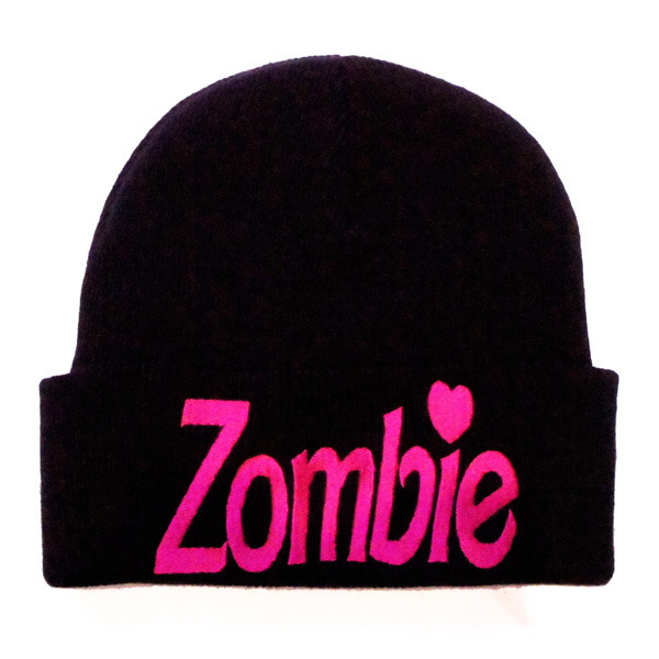 Kill Star Zombie Knit Beanie Gothic Punk Barbie Black Warm