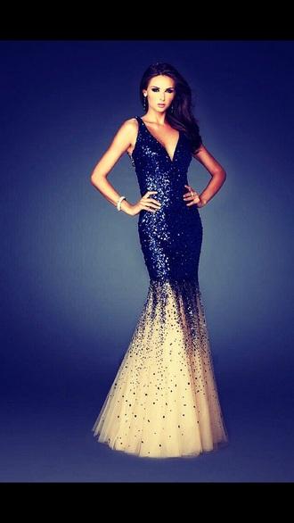 dress blue white sparkly sparkle