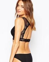 underwear,lace bralette,backless
