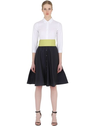 skirt cotton white black