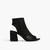 Die-cut Sandal-style Ankle Boots In Black