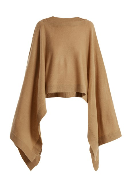 Le Kasha cape camel top