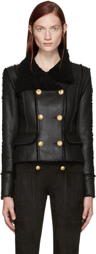 jacket shearling jacket black shearling jacket black